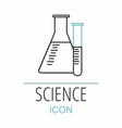 empty test tube isolated on white science icon vector image vector image