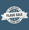 flash sale ribbon flash sale round white sign vector image vector image