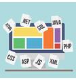 Flat design modern concept of process web pa vector image