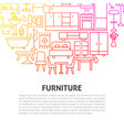 furniture line concept vector image