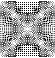 geometric halftone seamless pattern vector image