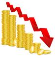 golden coin graph vector image
