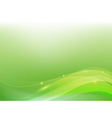 Green abstract background lighting curve and layer vector image