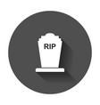 halloween grave icon gravestone rip tombstone vector image