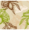Hand drawn Almond Seamless pattern Branch of vector image vector image