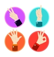 Hand gesture icons set vector image vector image