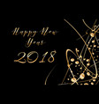 happy new year 2018 background with shiny vector image vector image