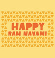 happy ram navami - lettering vector image