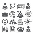 head hunting icons on white background vector image vector image