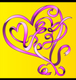 heart shape valentine graphic vector image vector image