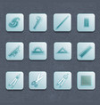 industrial architect icon set vector image vector image