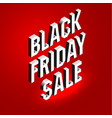 isometric lettering banner for black friday sale vector image vector image