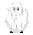 kid in a ghost costume vector image vector image
