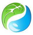 leaf drop tai chi symbol vector image vector image