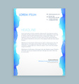 letterhead design with blue ink vector image vector image