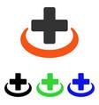 medical community flat icon vector image