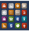 Office finance colorful icon set vector image