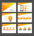 Orange Polygon presentation templates Infographic vector image vector image
