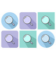 outlined icon of magnifying glass with parallel vector image vector image