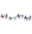 people in a cafe isolated lunch break beverages vector image vector image