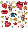 pop art style stickers vector image vector image