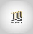 properties realty building symbol logo vector image vector image