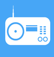 radio icon on blue background vector image