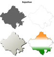 Rajasthan blank detailed outline map set vector image vector image
