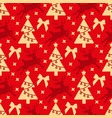 red seamless pattern with christmas symbols a vector image