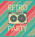 retro music party poster design disco music vector image