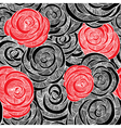 Roses black and red wallpaper vector image vector image