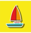 sailboat isolated design vector image vector image