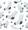 seamless pattern with cute socks and mittens vector image vector image