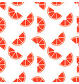 seamless pattern with grapefruit perfect vector image