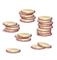 set of money towers vector image