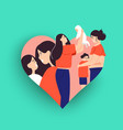single mother concept with children vector image
