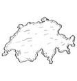 sketch of a map of switzerland vector image vector image