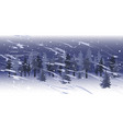snowfall landscape in spruce tree forest vector image vector image
