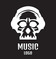 Sound studio logo Music Skull logo