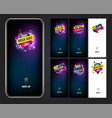 splash vertical banner sale promotion modern vector image vector image