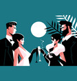 stylish forties concept party vector image
