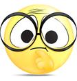 Thinking emoticon vector image vector image
