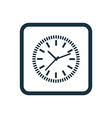 time icon Rounded squares button vector image vector image