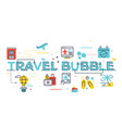 travel bubble word lettering vector image