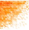 triangular geometric orange background vector image vector image