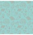 vintage seamless pattern seashells vector image