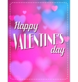 Vintage Valentines Day type text calligraphic vector image vector image