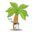 waiter palm tree character cartoon vector image vector image