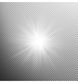White glowing light burst effect EPS 10 vector image vector image