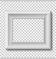 white wooden vintage frame isolated vector image